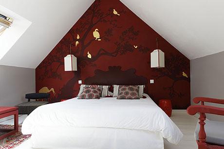 La chambre aux oiseaux à la Haute-Flourie, chambre d'hôtes à Saint-Malo