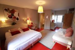 La chambre Rouge à la Haute-Flourie, chambre d'hôtes à Saint-Malo