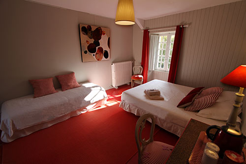 Beds in Red Bedroom
