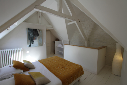 Bedroom of the cottage of la Haute Flourie, Saint-Malo